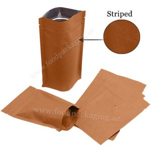 Kraft Paper Stand Up Pouches With Valve