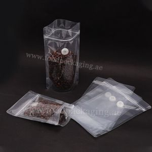 Both Side Transparent Stand Up Pouches with Zipper