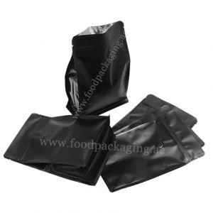 Flat Bottom Pouches With Normal Zipper & Valve
